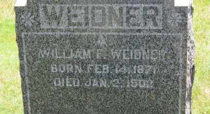 WEIDNER, WILLIAM F. - Medina County, Ohio | WILLIAM F. WEIDNER - Ohio Gravestone Photos