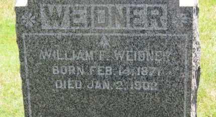 WEIDNER, WILLIAM F. - Medina County, Ohio | WILLIAM F. WEIDNER - Ohio Gravestone Photos