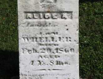 WHELLER, ALICE A. - Medina County, Ohio | ALICE A. WHELLER - Ohio Gravestone Photos