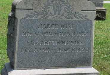 WISE, ELIZABETH - Medina County, Ohio | ELIZABETH WISE - Ohio Gravestone Photos