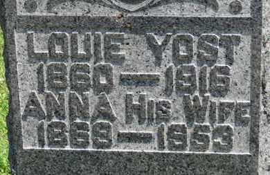YOST, ANNA - Medina County, Ohio | ANNA YOST - Ohio Gravestone Photos
