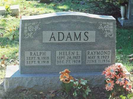 ADAMS, RALPH - Meigs County, Ohio | RALPH ADAMS - Ohio Gravestone Photos