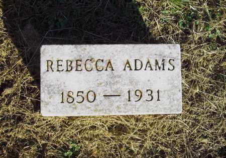 ADAMS, REBECCA - Meigs County, Ohio   REBECCA ADAMS - Ohio Gravestone Photos