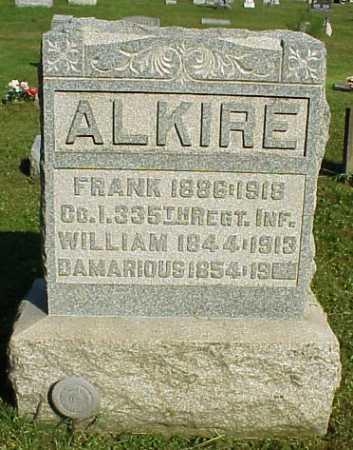 ALKIRE, WILLIAM - Meigs County, Ohio | WILLIAM ALKIRE - Ohio Gravestone Photos