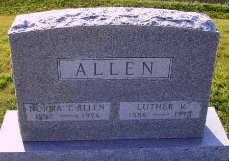 ALLEN, LUTHER R. - Meigs County, Ohio | LUTHER R. ALLEN - Ohio Gravestone Photos