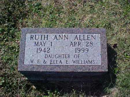 WILLIAMS ALLEN, RUTH ANN - Meigs County, Ohio | RUTH ANN WILLIAMS ALLEN - Ohio Gravestone Photos