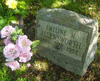 SMITH ALLENSWORTH, EMELINE M - Meigs County, Ohio | EMELINE M SMITH ALLENSWORTH - Ohio Gravestone Photos