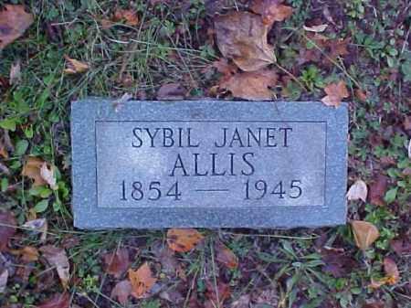 ALLIS, SYBIL JANET - Meigs County, Ohio | SYBIL JANET ALLIS - Ohio Gravestone Photos