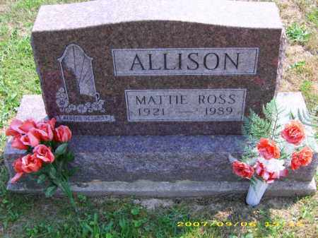 ROSS ALLISON, MATTIE - Meigs County, Ohio | MATTIE ROSS ALLISON - Ohio Gravestone Photos