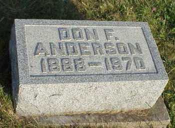 ANDERSON, DON F. - Meigs County, Ohio | DON F. ANDERSON - Ohio Gravestone Photos
