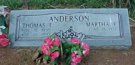 ANDERSON, THOMAS E. - Meigs County, Ohio | THOMAS E. ANDERSON - Ohio Gravestone Photos