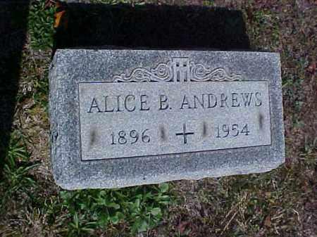 ANDREWS, ALICE B. - Meigs County, Ohio | ALICE B. ANDREWS - Ohio Gravestone Photos