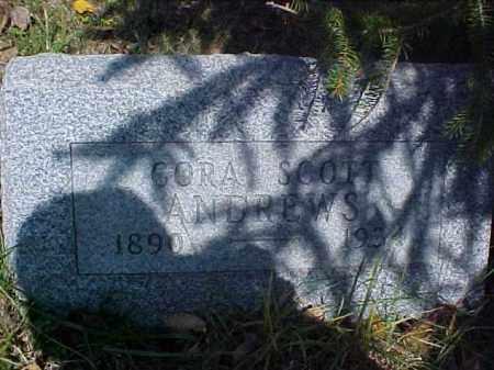 ANDREWS, CORA - Meigs County, Ohio | CORA ANDREWS - Ohio Gravestone Photos