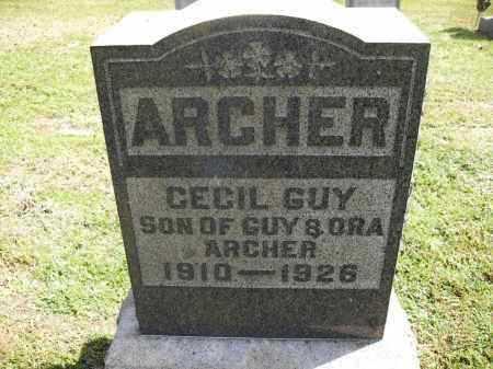 ARCHER, CECIL GUY - Meigs County, Ohio | CECIL GUY ARCHER - Ohio Gravestone Photos