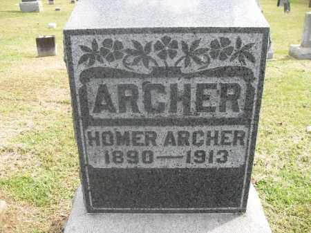 ARCHER, HOMER - Meigs County, Ohio | HOMER ARCHER - Ohio Gravestone Photos