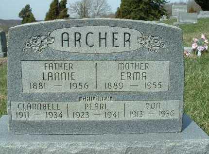 GOBLE ARCHER, ERMA ROSETTA - Meigs County, Ohio | ERMA ROSETTA GOBLE ARCHER - Ohio Gravestone Photos