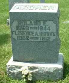 ARCHER, FLORENCE A. - Meigs County, Ohio | FLORENCE A. ARCHER - Ohio Gravestone Photos