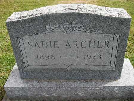 ARCHER, SADIE - Meigs County, Ohio | SADIE ARCHER - Ohio Gravestone Photos