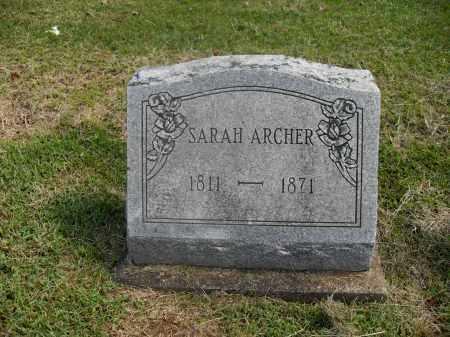 ARCHER, SARAH - Meigs County, Ohio | SARAH ARCHER - Ohio Gravestone Photos