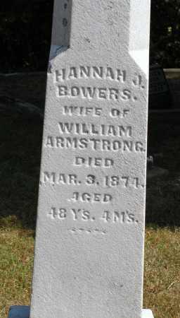 BOWERS ARMSTRONG, HANNAH J. - Meigs County, Ohio | HANNAH J. BOWERS ARMSTRONG - Ohio Gravestone Photos
