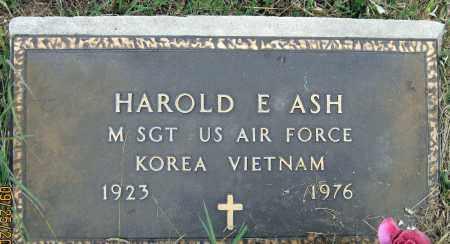 ASH, HAROLD E. - Meigs County, Ohio | HAROLD E. ASH - Ohio Gravestone Photos