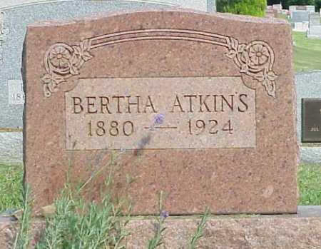 ATKINS, BERTHA - Meigs County, Ohio | BERTHA ATKINS - Ohio Gravestone Photos