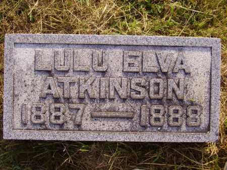 ATKINSON, LULU ELVA - Meigs County, Ohio | LULU ELVA ATKINSON - Ohio Gravestone Photos