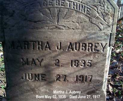 AUBREY, MARTHA - Meigs County, Ohio | MARTHA AUBREY - Ohio Gravestone Photos