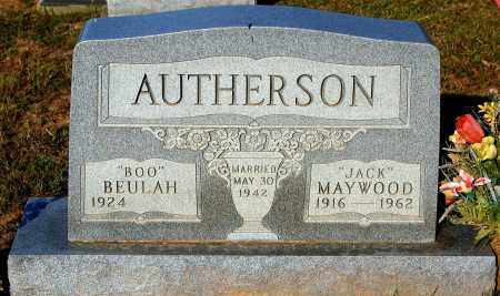 "AUTHERSON, BEULAH ""BOO"" - Meigs County, Ohio 