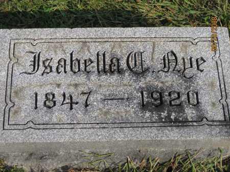 AYE, ISABELLA C - Meigs County, Ohio | ISABELLA C AYE - Ohio Gravestone Photos