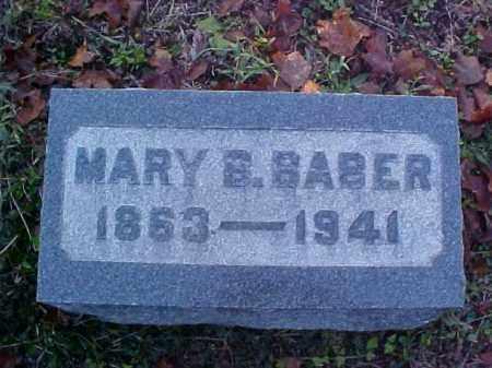 BABER, MARY B. - Meigs County, Ohio | MARY B. BABER - Ohio Gravestone Photos
