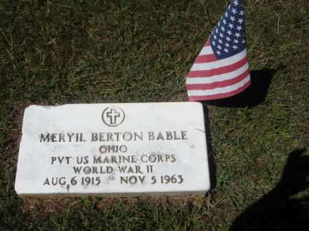 BABLE, MERYIL BERTON - Meigs County, Ohio | MERYIL BERTON BABLE - Ohio Gravestone Photos