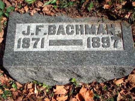BACHMAN, J.F. - Meigs County, Ohio | J.F. BACHMAN - Ohio Gravestone Photos