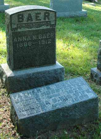 MORA BAER, ANNA M. - Meigs County, Ohio | ANNA M. MORA BAER - Ohio Gravestone Photos