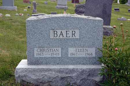 BAER, ELLEN G - Meigs County, Ohio | ELLEN G BAER - Ohio Gravestone Photos
