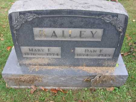BAILEY, DANIEL E. - Meigs County, Ohio | DANIEL E. BAILEY - Ohio Gravestone Photos