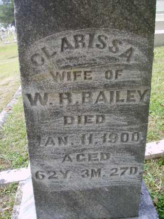HOLT BAILEY, CLARISSA - Meigs County, Ohio   CLARISSA HOLT BAILEY - Ohio Gravestone Photos