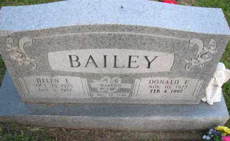 BAILEY, HELEN E. - Meigs County, Ohio | HELEN E. BAILEY - Ohio Gravestone Photos