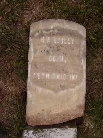 BAILEY, H.A. - Meigs County, Ohio   H.A. BAILEY - Ohio Gravestone Photos