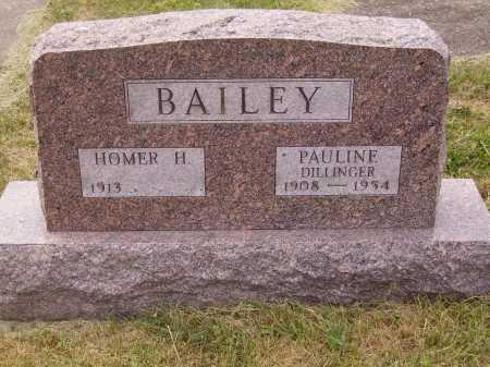 DILLINGER BAILEY, PAULINE - Meigs County, Ohio   PAULINE DILLINGER BAILEY - Ohio Gravestone Photos
