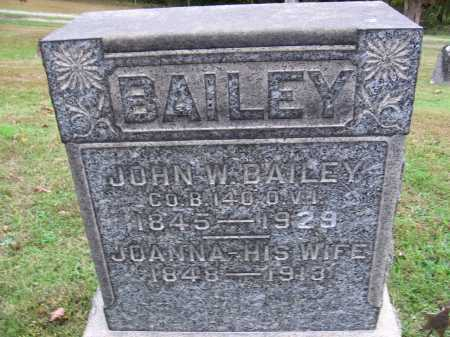 BAILEY, JOHN WESLEY - Meigs County, Ohio | JOHN WESLEY BAILEY - Ohio Gravestone Photos