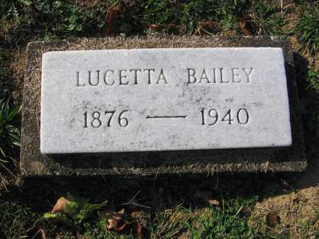 FREED BAILEY, LUCETTA - Meigs County, Ohio | LUCETTA FREED BAILEY - Ohio Gravestone Photos
