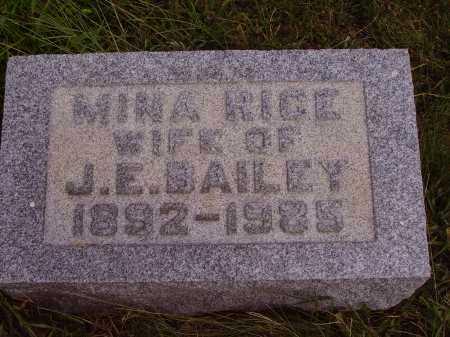BAILEY, MINA - Meigs County, Ohio | MINA BAILEY - Ohio Gravestone Photos