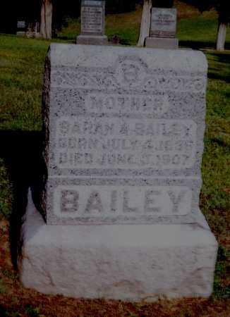 WILL BAILEY, SARAH A. - Meigs County, Ohio | SARAH A. WILL BAILEY - Ohio Gravestone Photos