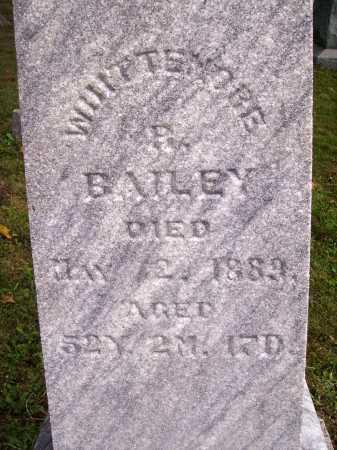 BAILEY, WHITTEMORE B. - Meigs County, Ohio | WHITTEMORE B. BAILEY - Ohio Gravestone Photos