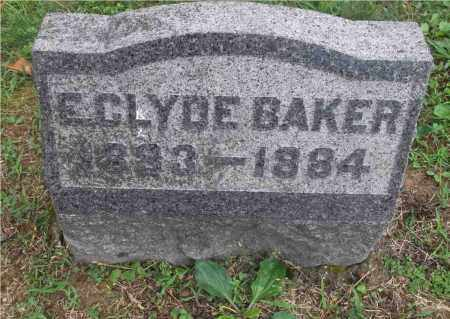 BAKER, E.CLYDE - Meigs County, Ohio | E.CLYDE BAKER - Ohio Gravestone Photos