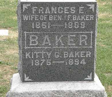 BAKER, BENJ. F. - Meigs County, Ohio   BENJ. F. BAKER - Ohio Gravestone Photos