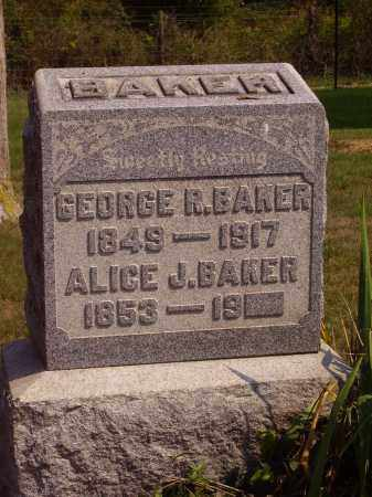 BAKER, GEORGE R. - Meigs County, Ohio | GEORGE R. BAKER - Ohio Gravestone Photos