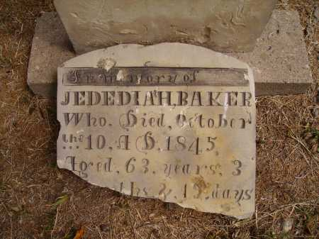 BAKER, JEDEDIAH - CLOSEVIEW - Meigs County, Ohio | JEDEDIAH - CLOSEVIEW BAKER - Ohio Gravestone Photos