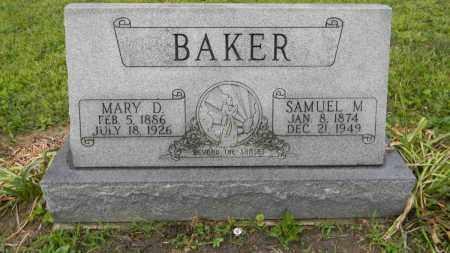 BAKER, MARY D. - Meigs County, Ohio | MARY D. BAKER - Ohio Gravestone Photos